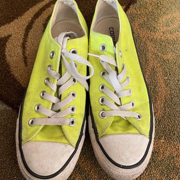 Converse Shoes | Neon Yellow Converse